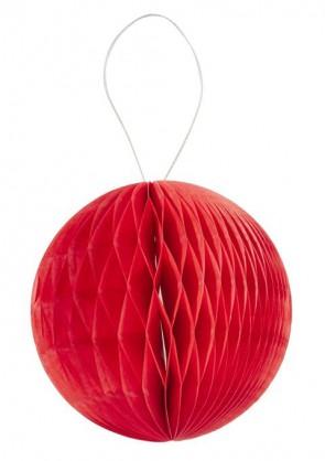 3 D-Wabenball aus Papier, 8 cm, rot, Btl. a 4