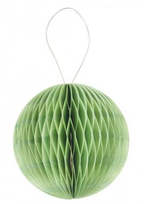 3 D-Wabenball aus Papier, 15 cm, grün, Btl. a 2 St.