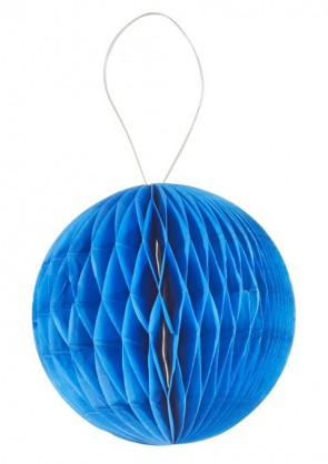 3 D-Wabenball aus Papier, 15 cm, hellblau, Btl. a 2 St.