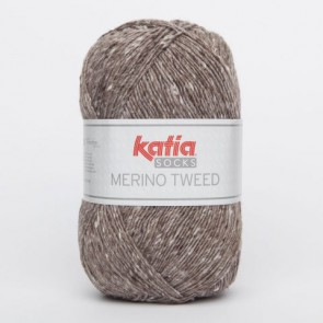 MERINO TWEED SOCKS 50 100g braun