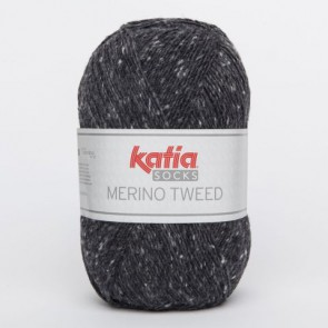 MERINO TWEED SOCKS 54 100g dunkelgrau