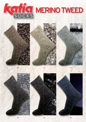 MERINO TWEED SOCKS 55 100g jeansblau dunkel