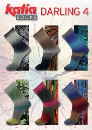 DARLING 4 Socks 61 100g braun/grau