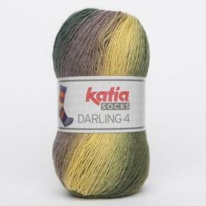 DARLING 4 Socks 63 100g grün/braun/gelb
