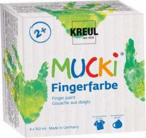MUCKI Fingerfarben 4er Set  150 ml