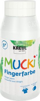 MUCKI Fingerfarbe Weiß 750 ml
