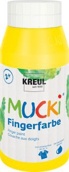 MUCKI Fingerfarbe Gelb 750 ml