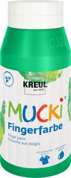 MUCKI Fingerfarbe Grün 750 ml