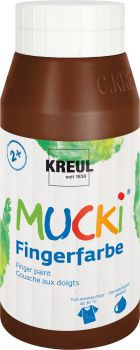 MUCKI Fingerfarbe Braun 750 ml