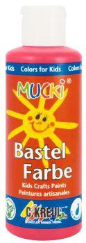 MUCKI Bastelfarbe Karminrot 80 ml