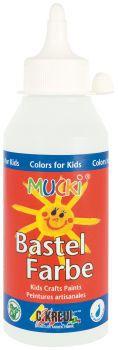 MUCKI Bastelfarbe Weiß 250 ml