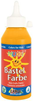 MUCKI Bastelfarbe Orange 250 ml