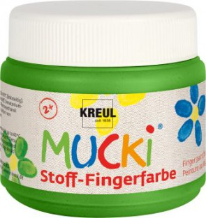 MUCKI Fingerfarbe Textil Grün 150 ml