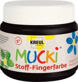 MUCKI Fingerfarbe Textil Schwarz 150 ml