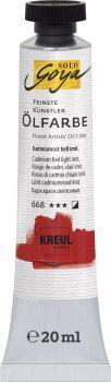SOLO GOYA Feinste Künstler-Ölfarbe BraunerLack gelblich Tb. 20 ml