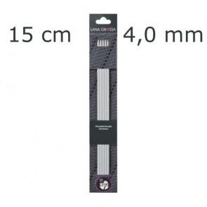 Strumpfstricknadel Alu 15cm 4,0mm