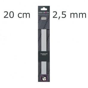 Strumpfstricknadel Alu 20cm 2,5mm