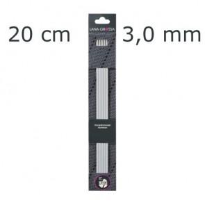 Strumpfstricknadel Alu 20cm 3,0mm