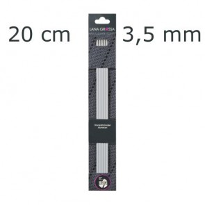 Strumpfstricknadel Alu 20cm 3,5mm