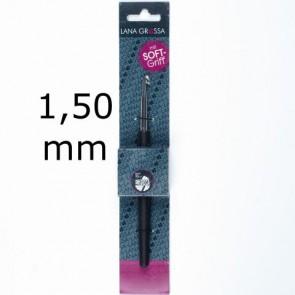 Garnhäkelnadel m.Soft-Griff 14cm 1,50mm