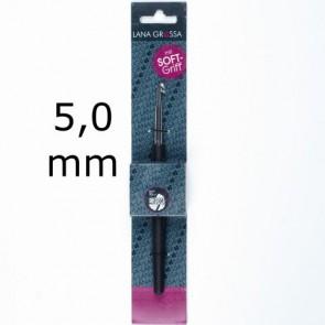 Wollhäkelnadel m.Soft-Griff 14cm 5,0mm