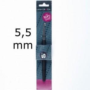 Wollhäkelnadel m.Soft-Griff 14cm 5,5mm