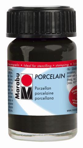 Marabu Porcelain, Schwarz 073, 15 ml