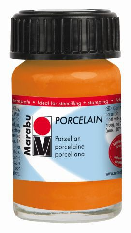 Marabu-Porcelain 013, 15 ml orange
