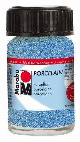 Marabu-Porcelain 555, 15 ml Glitter-Blau