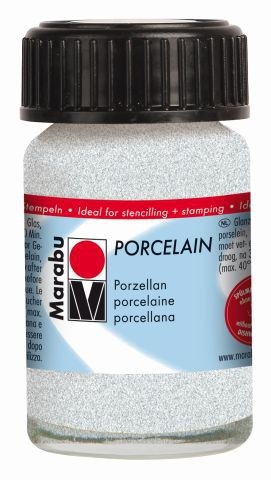 Marabu-Porcelain 570, 15 ml Glitter-Weiß