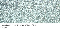 Marabu-Porcelain 582, 15 ml Glitter-Silber