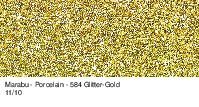 Marabu-Porcelain 584, 15 ml Glitter-Gold