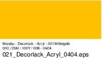 Marabu-Decorlack 021, 15 ml mittelgelb