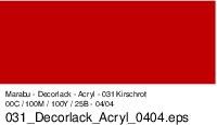 Marabu-Decorlack 031, 15 ml kirschrot