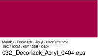Marabu-Decorlack 032, 15 ml kaminrot