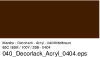 Marabu-Decorlack 040, 15 ml mittelbraun