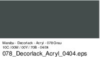 Marabu-Decorlack 078, 15 ml grau
