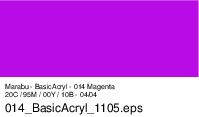 Marabu-BasicAcryl 014, 80 ml magenta