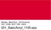 Marabu-BasicAcryl 031, 80 ml kirschrot