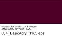 Marabu-BasicAcryl 034, 80 ml bordeaux