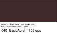 Marabu-BasicAcryl 040, 80 ml mittelbraun