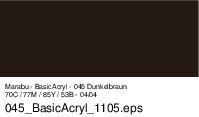 Marabu-BasicAcryl 045, 80 ml dunkelbraun