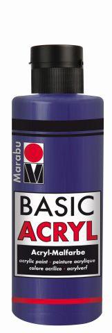 Marabu-BasicAcryl 051, 80 ml violett dkl.