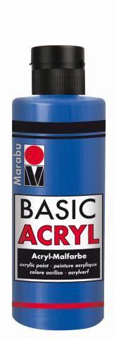 Marabu-BasicAcryl 052, 80 ml mittelblau