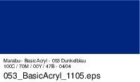 Marabu-BasicAcryl 053, 80 ml dunkelblau