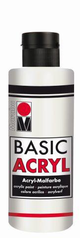 Marabu-BasicAcryl 070, 80 ml weiss