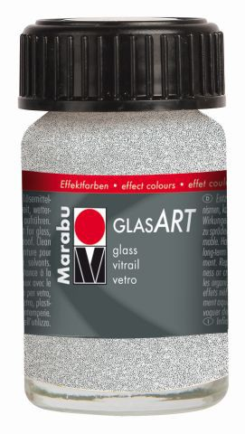 Marabu-GlasArt 582, 15 ml Glitter-Silber
