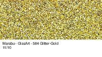 Marabu-GlasArt 584, 15 ml Glitter-Gold