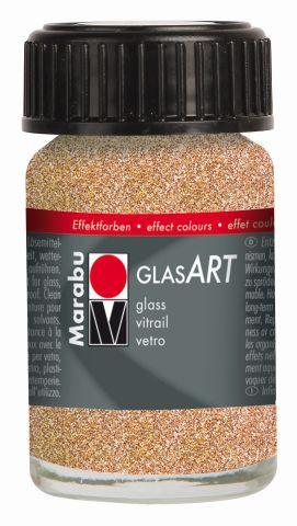 Marabu-GlasArt 586, 15 ml Glitter-Rotgold