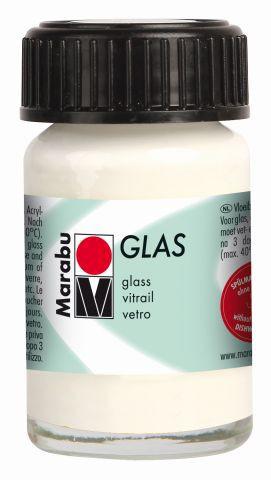 Marabu-Glas 070, 15 ml weiss